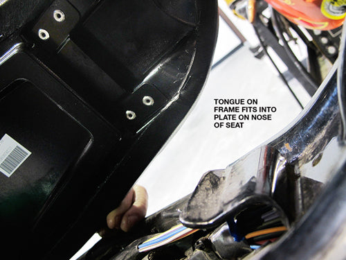 How to install biltwell inc. banana seat or cafe seat-3