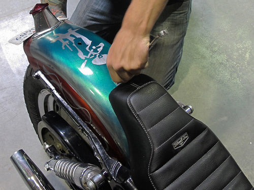 How to install biltwell inc. banana seat or cafe seat-9