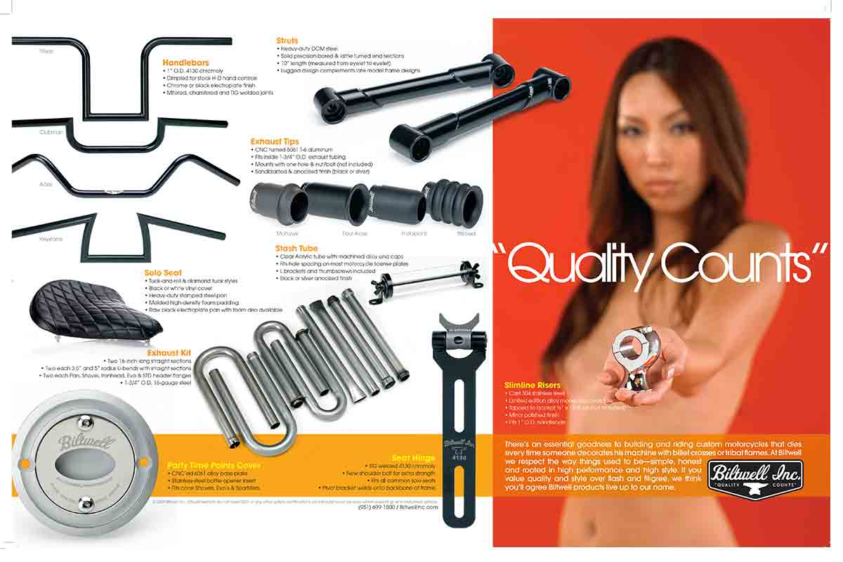A page from an old catalog in 2009, Biltwell Inc. catalog_2009_back