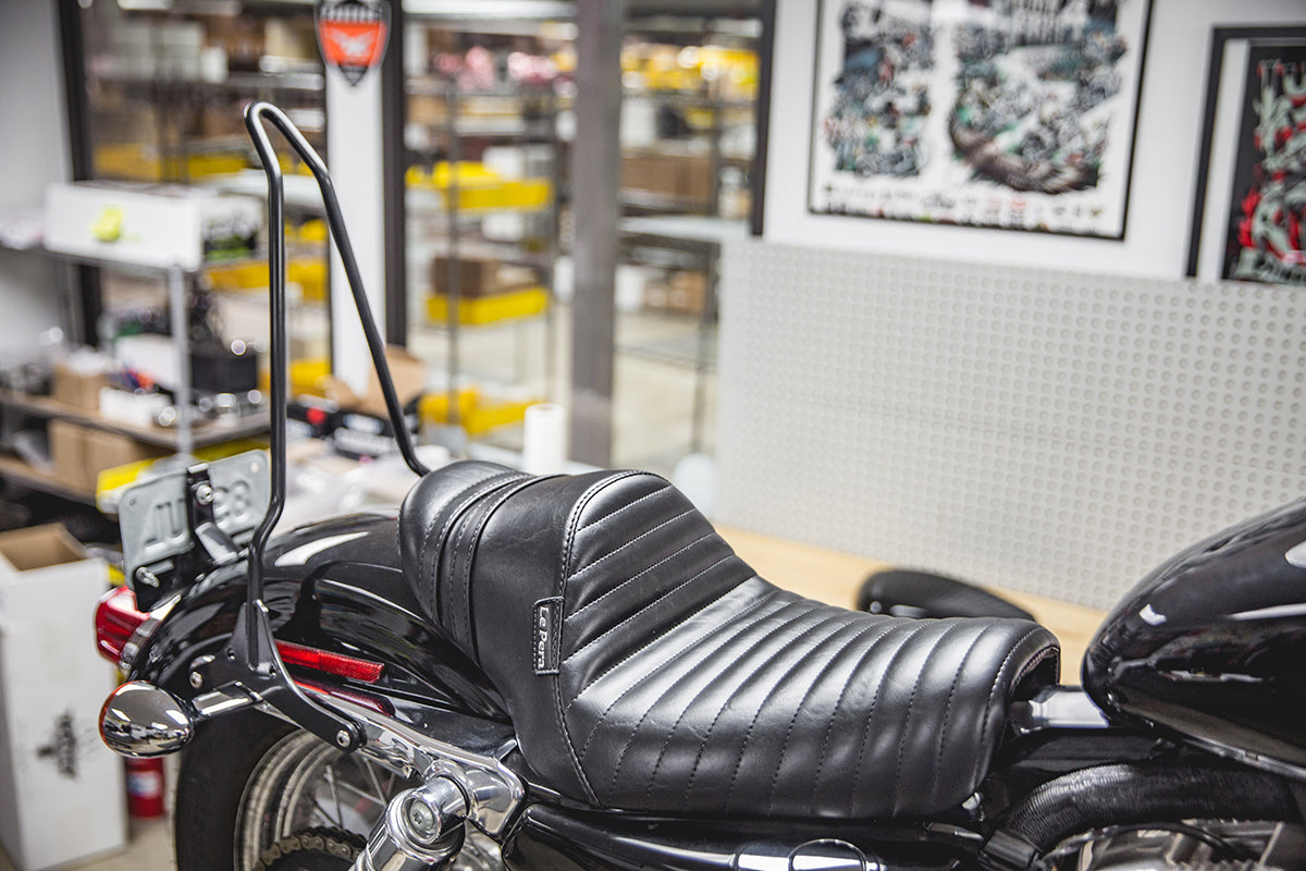 The After - How to install a Gasbox Sissy Bar on a Sportster