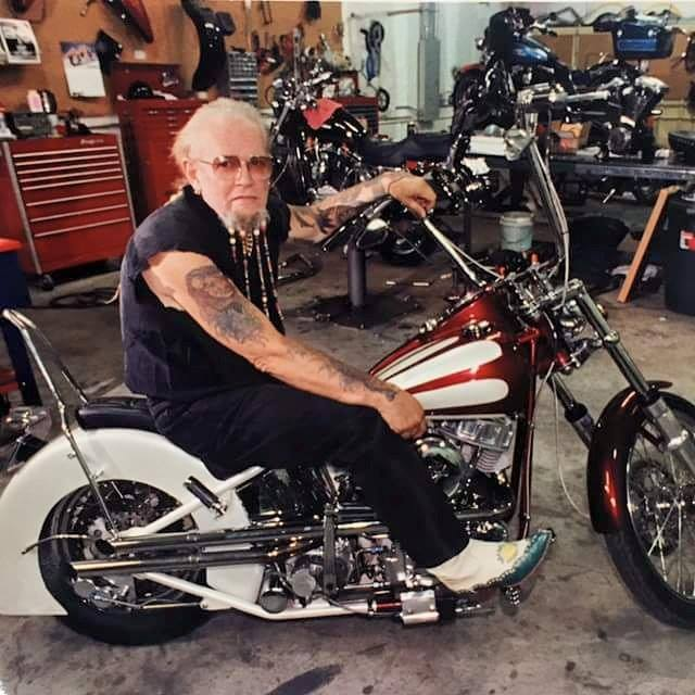 "David Allan Coe on a beautiful Panhead. ""Panheads Forever"" Famous motorcycle riders"