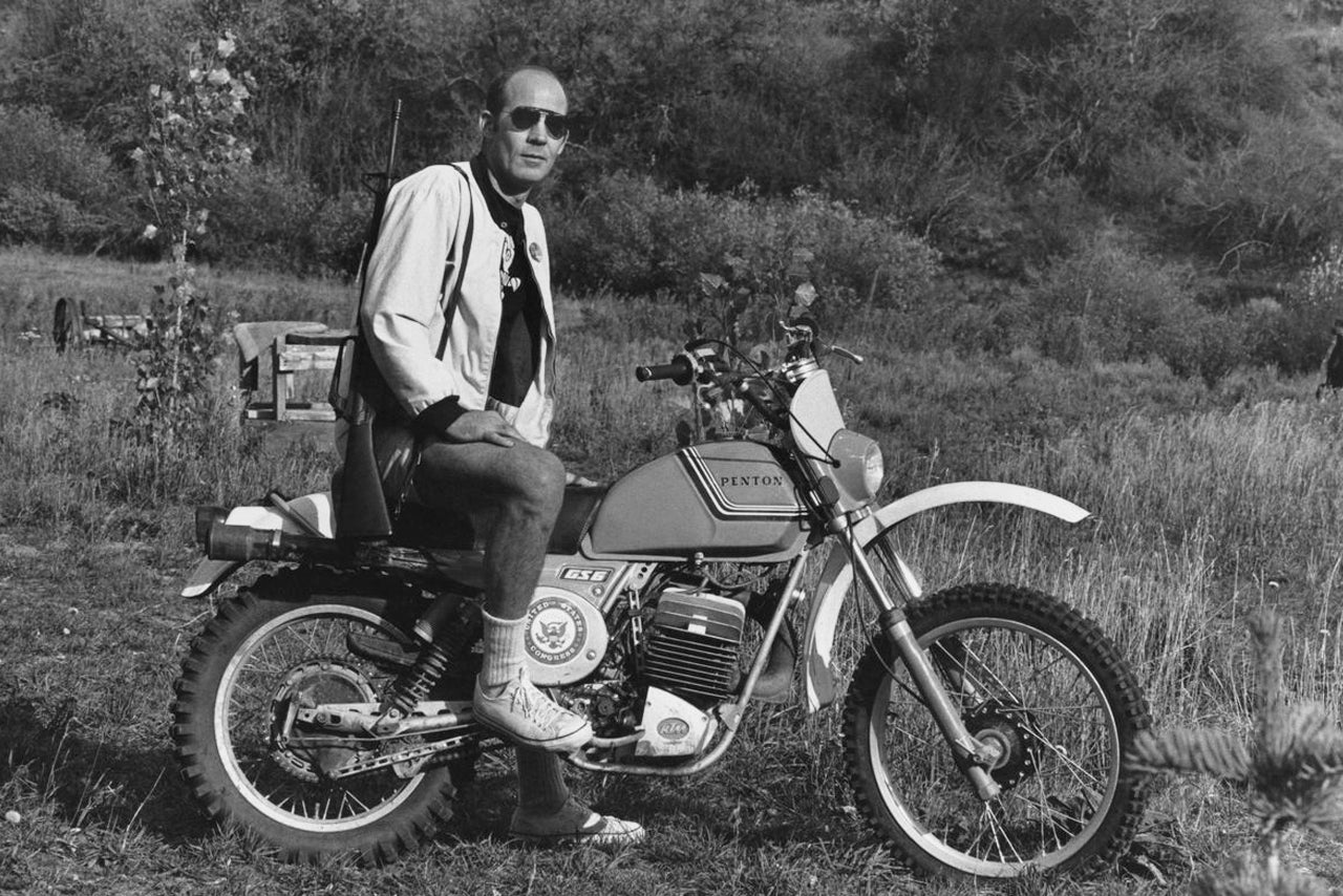 - Hunter S Thompson on a Penton, an Ohio based race bike.