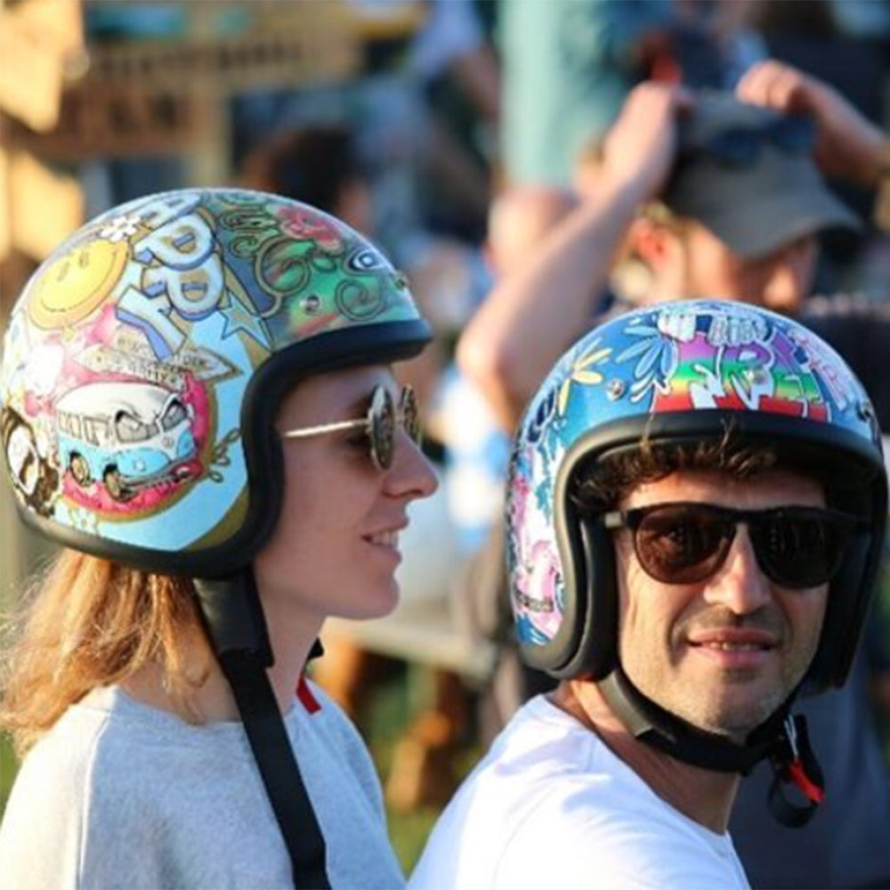 Dmd Woodstock Helmets spotted at Wheels and Waves 2. Lowbrow Customs - Dmd Helmets