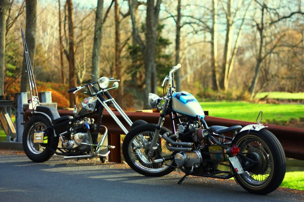 yamaha xs650 chopper-Lowbrow Spotlight: Adam and His Brother's XS650 & Triumph Choppers-1