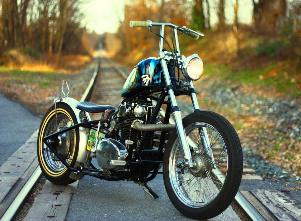 yamaha xs650 chopper-Lowbrow Spotlight: Adam and His Brother's XS650 & Triumph Choppers-2