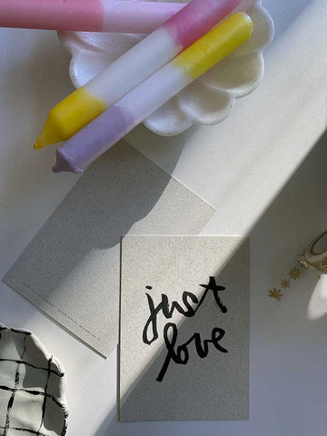 "Brush Lettering Postkarte: ""Just Love"""