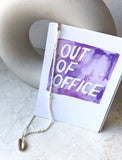 "Aquarell Lettering Postkarte: ""Out of office"""