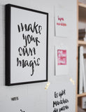 "Brush Lettering Poster ""Your own magic"""