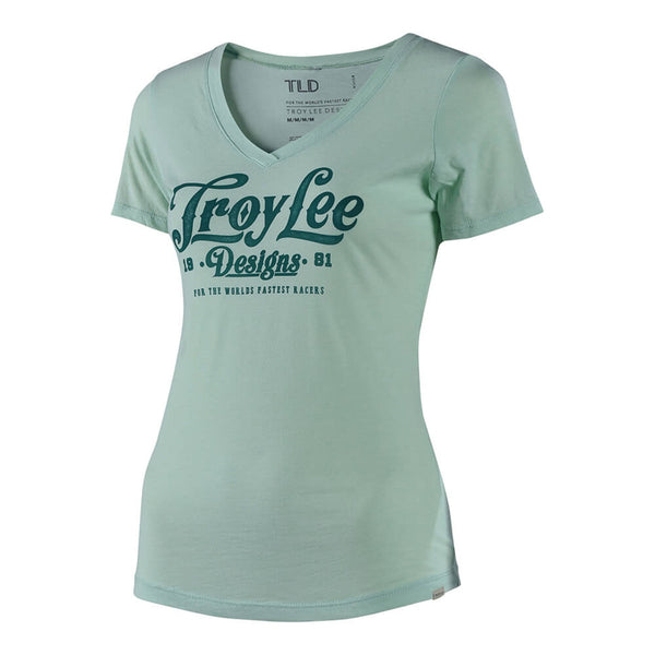 Women's Spiked V-Neck T-Shirt - Mint by Troy Lee Designs