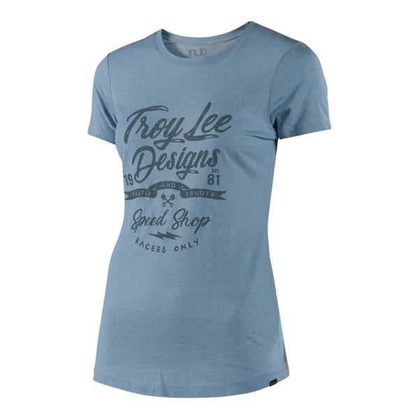 Women's Widowmaker Crew T-Shirt - Blue by Troy Lee Designs