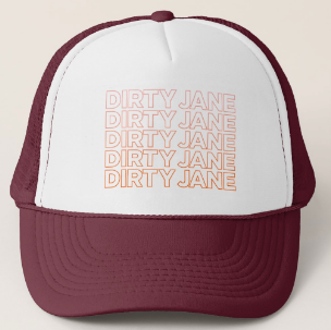 Burgundy Sunrise - Trucker Hat by Dirty Jane