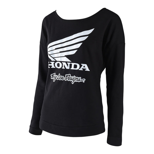 Honda Wing Womens Raglan Crew by Troy Lee Designs