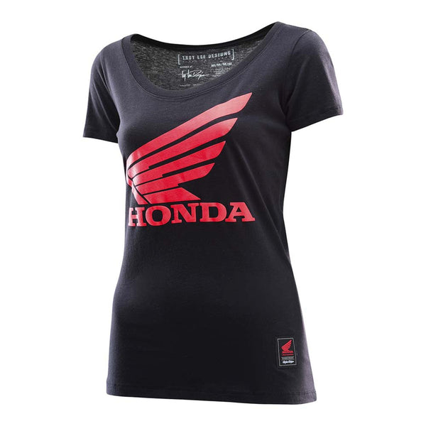 Honda Wing Womens Shirt - Black by Troy Lee Designs
