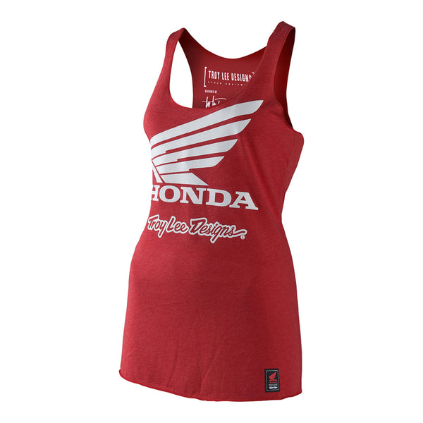 Honda Wing Womens Tank Top - Red by Troy Lee Designs