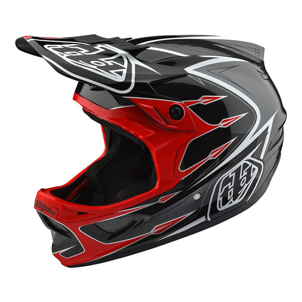 D3 Composite Helmet Corona Red/Gray by Troy Lee Designs