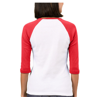 Ridin Dirty Red Heart - Dirty Jane 3/4 Sleeve Raglan T-Shirt