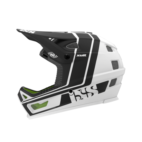 XULT Full Face Helmet - White/Black by IXS