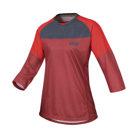 2017 Vibe 6.1 Ladies Jersey - Wine Red by IXS