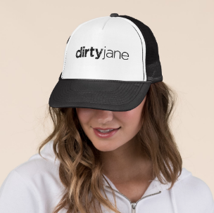 Black is My Fav - Trucker Hat by Dirty Jane