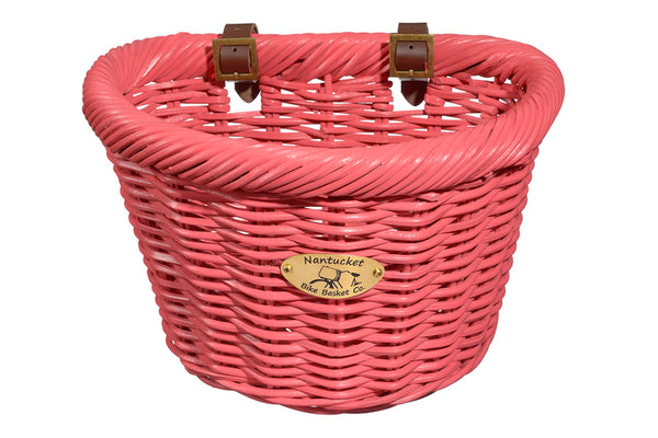 Cruiser Adult D-Shape Basket - Rose by Nantucket Baskets