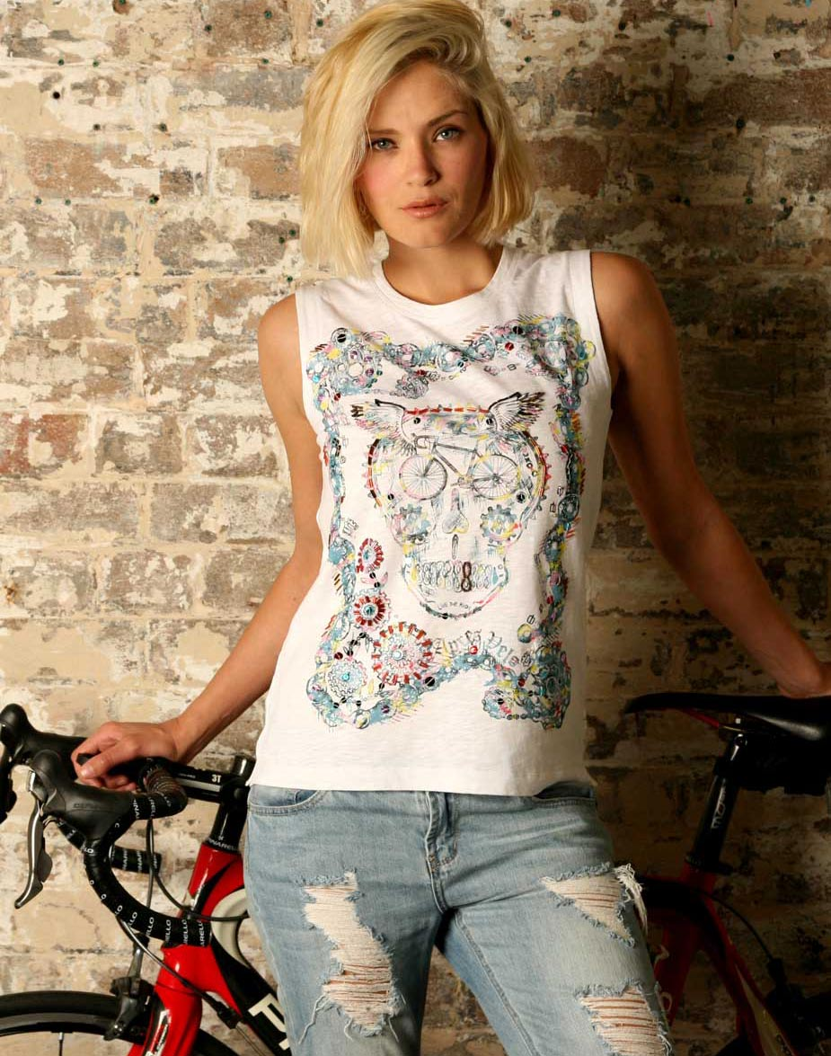 Chainring Tattoo Tank-Cycling T Shirts by Apres Velo