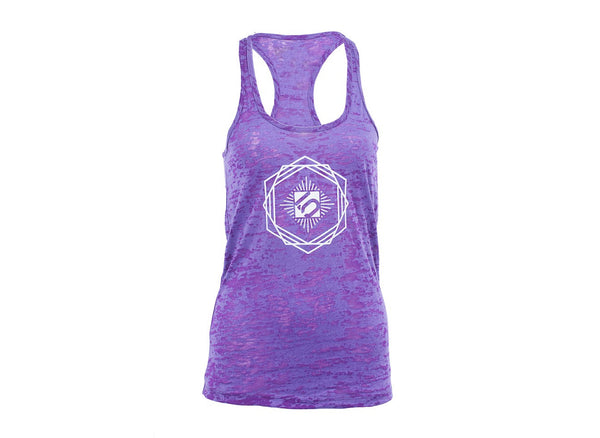 Hexagon Tank - Purple Rush by Fiveten