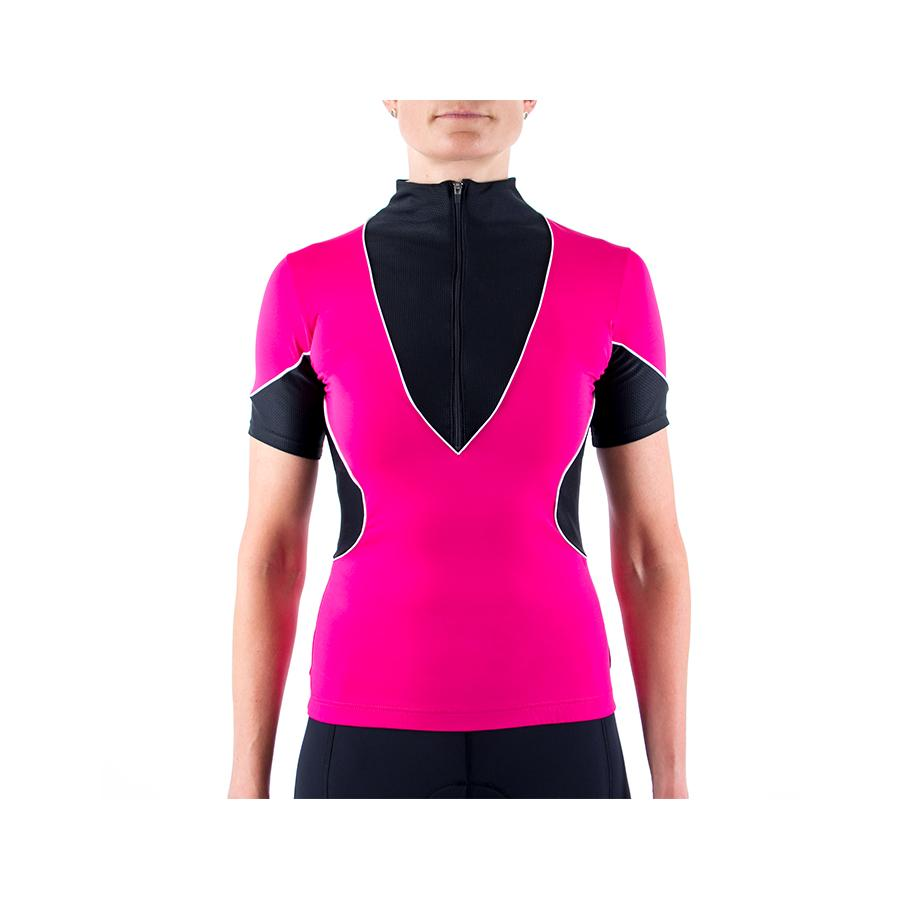 Hourglass Cycling Jersey Black/Pink by Lexi Miller