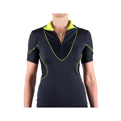 Hourglass Cycling Jersey Black/Yellow by Lexi Miller