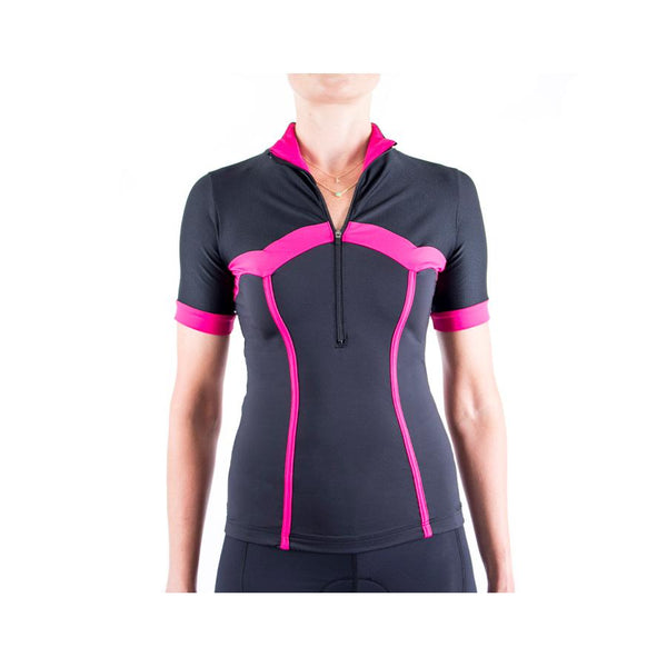 Corset Cycling Jersey Black/Pink by Lexi Miller