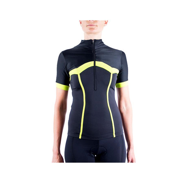 Corset Cycling Jersey Black/Yellow by Lexi Miller