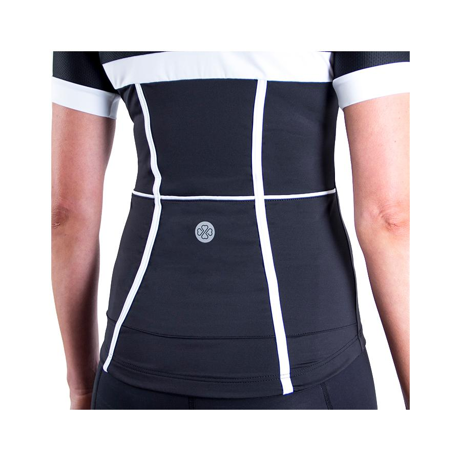 Corset Cycling Jersey Black/White by Lexi Miller