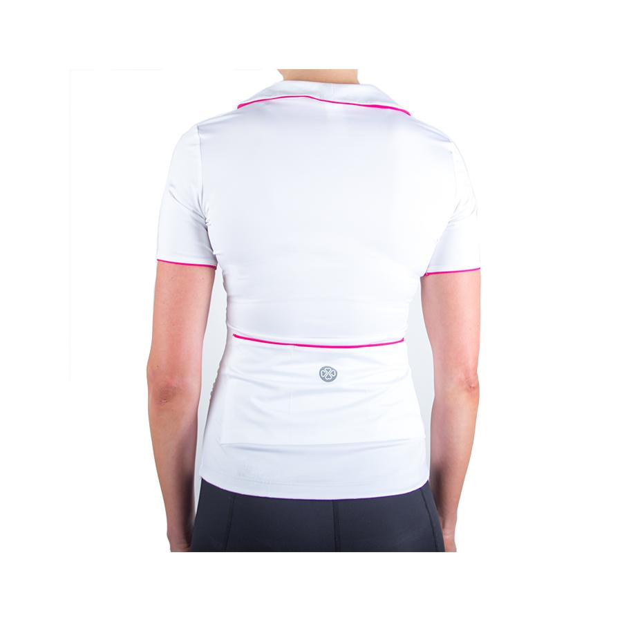 Wrapture Cycling Jersey White/Pink by Lexi Miller