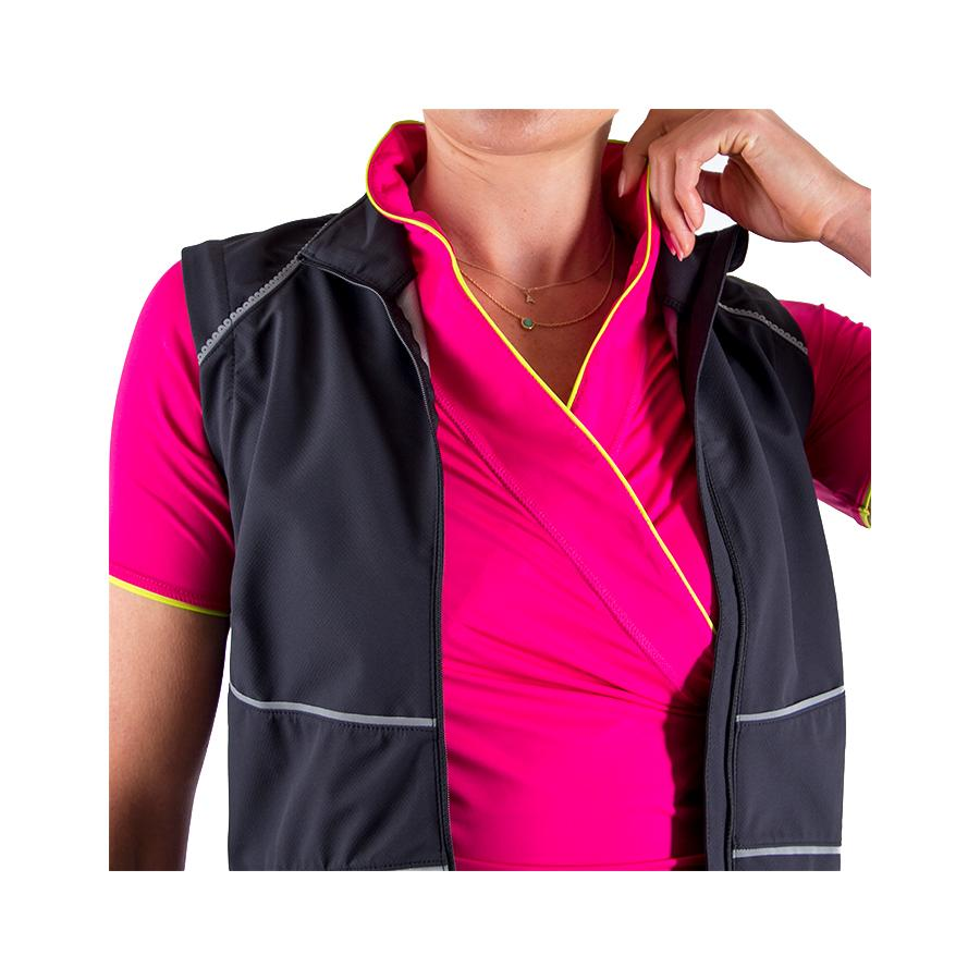 Wrapture Cycling Jersey Pink/Yellow by Lexi Miller