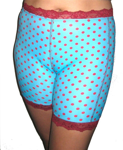 Red Hot Aqua Dot Pettipants by Bikie Girl Bloomers