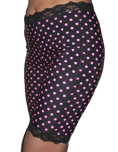 Pinka Dot Black Bloomers - Plus Size by Bikie Girl Bloomers