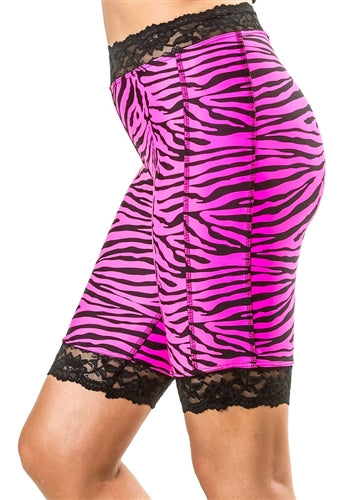 Pink Zebra Bloomers - Plus Size by Bikie Girl Bloomers