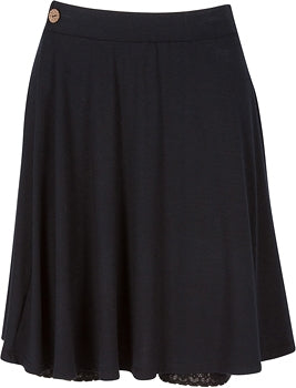 Hitchable Flounce Skirt Plus Size - Black by Bikie Girl Bloomers