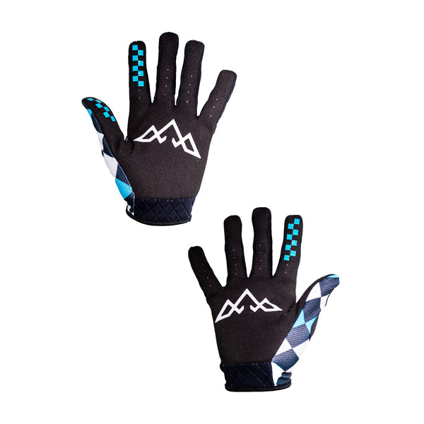 Double Digits Glove & Sock Kit - Teal Check Mate by Tasco MTB
