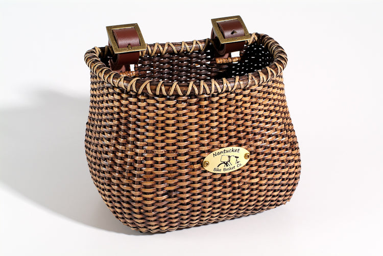 Lightship Child Classic Basket - Stained by Nantucket Baskets