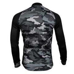Wood Camo Long Sleeve Cycling Jersey by Paria