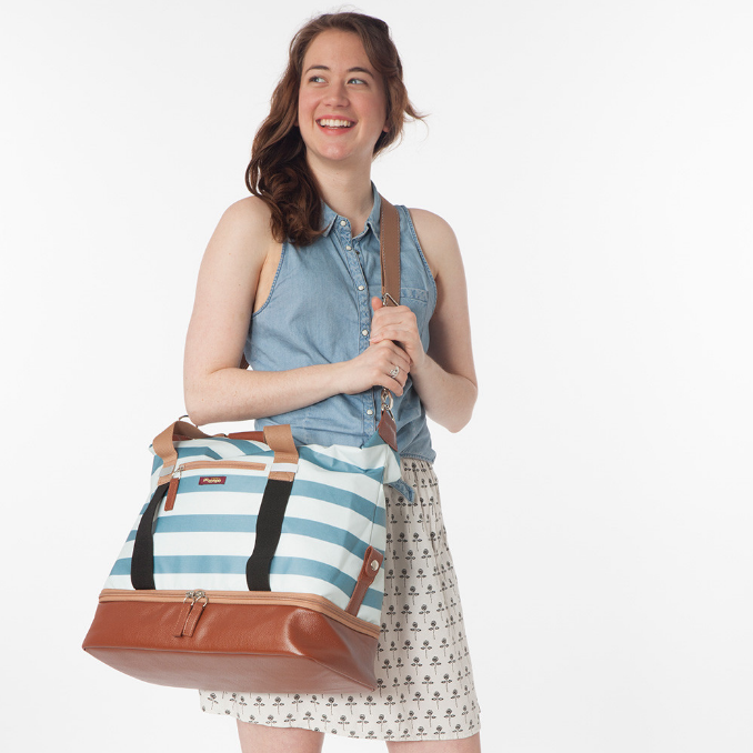 Midway Weekender Gym Bag- Sky Stripes by Po Campo