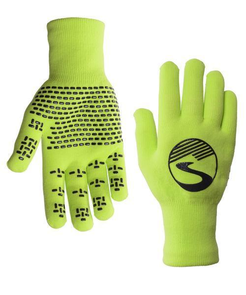 Women's Crosspoint Knit Waterproof Gloves - Neon Green by Showers Pass