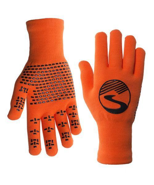 Women's Crosspoint Knit Waterproof Gloves - Safety Orange by Showers Pass