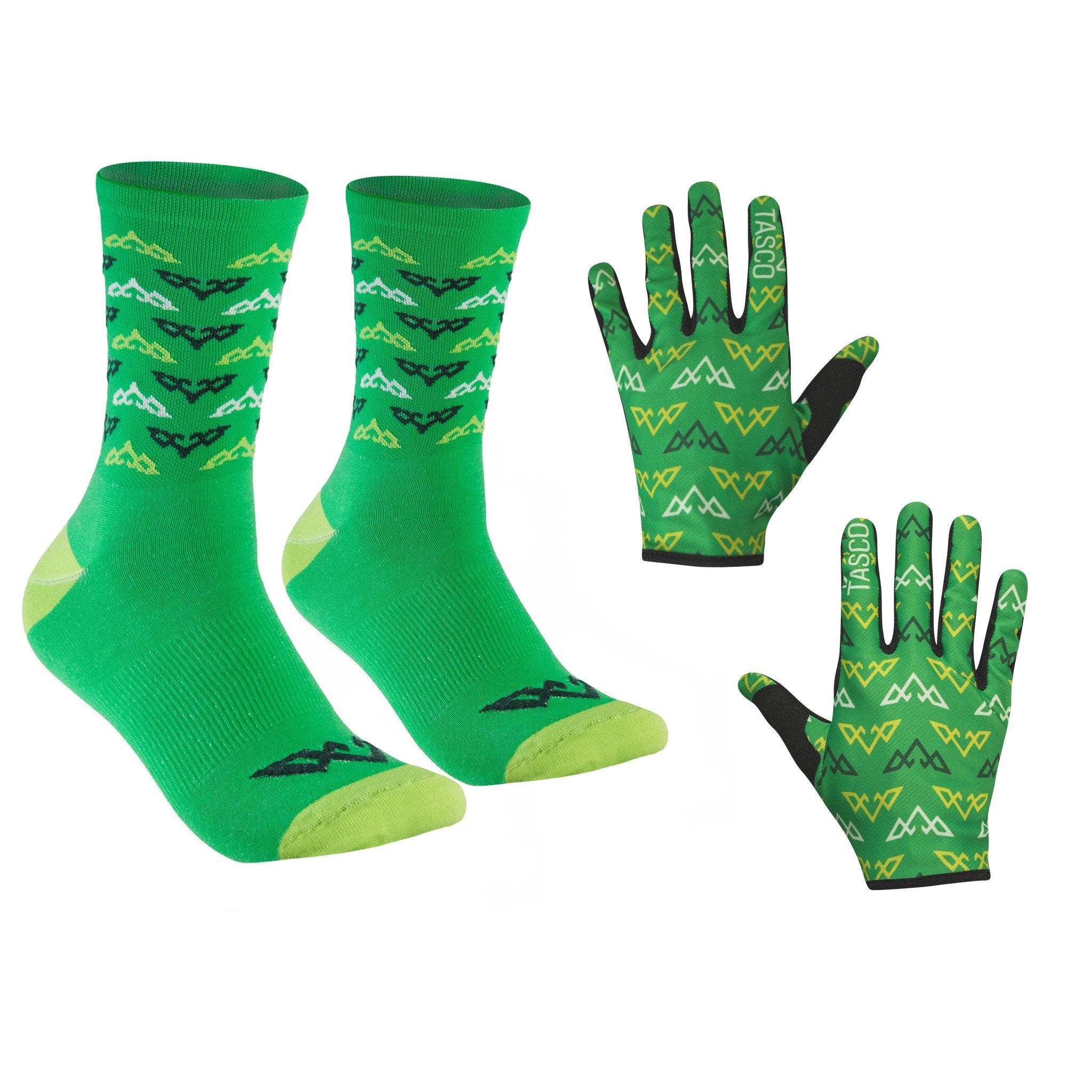 Double Digits Glove & Sock Kit - Green Inversion by Tasco MTB