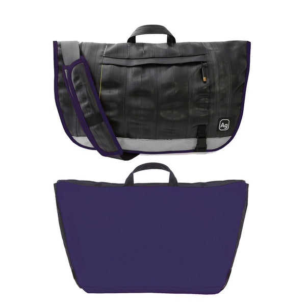 Dravus Messenger Bag - Purple by Alchemy Goods