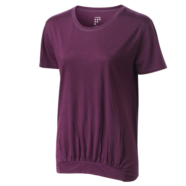 Ailsa Merino T-Shirt - Eggplant by FINDRA