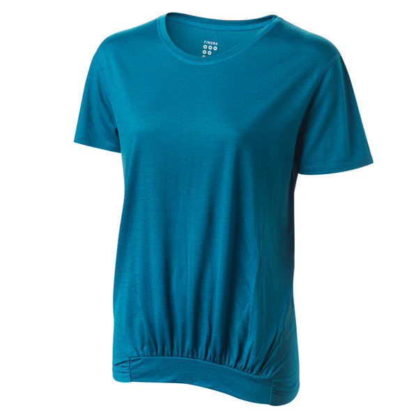 Ailsa Merino T-Shirt - Loch Blue by FINDRA