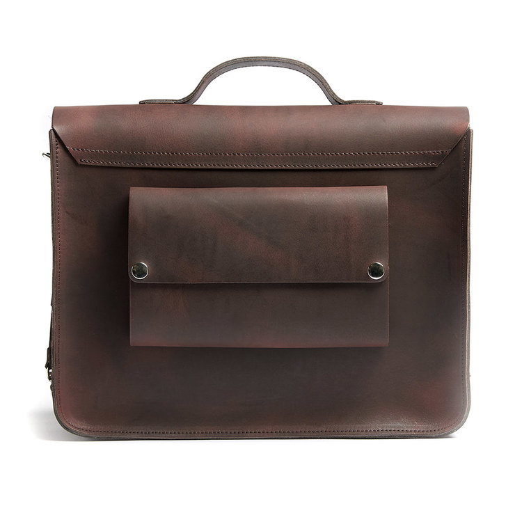 FREDDIE - Brown Satchel Bike Bag by Hills & Ellis