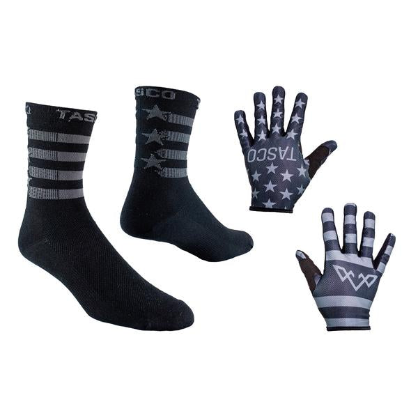 Double Digits Glove & Sock Kit - Black Flag by Tasco MTB
