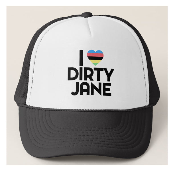 I HEART DIRTY JANE - Black Trucker Hat by Dirty Jane